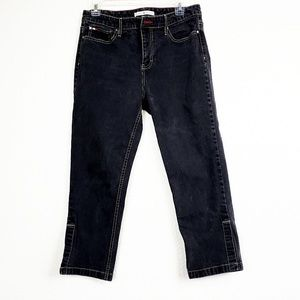 Tommy Hilfiger| Black Capri jeans with white trim